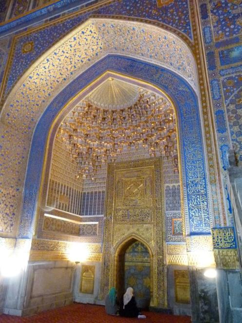 Inside Ulugbek Medressa, Samarkand.
