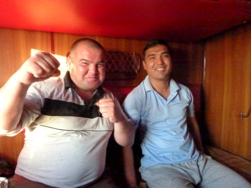 The Boxers we Shared the Cabin With. Urgench-Tashkent Train