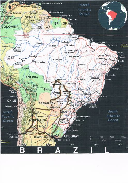 Brazil and Surrounding Countries