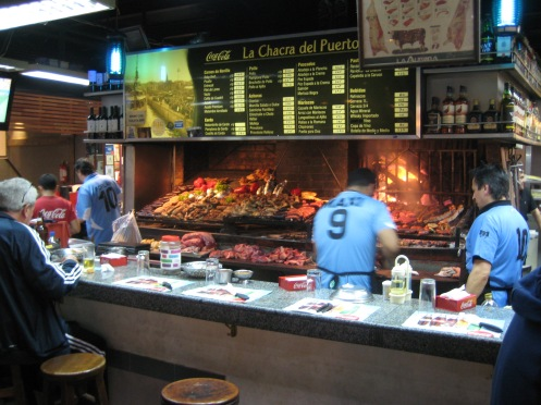 One of the Kitchens at Mercado de Puerto