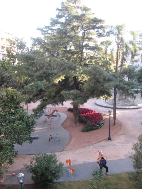 Plaza Zabala from our window