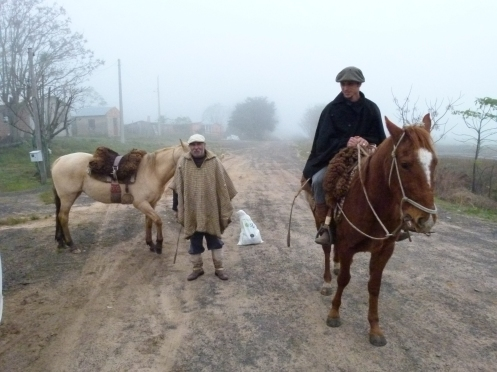 Gauchos Appearing Out Of The Mist